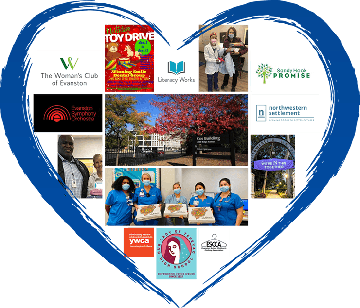 Collage of community involvement images